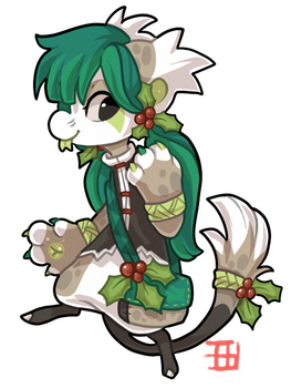 #334 Gifted Floral Bagbean - European Holly by griffsnuff