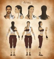 Jyotsana Model Sheet by Kajero
