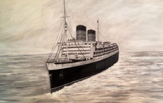 RMS Queen Elizabeth by Pictaview