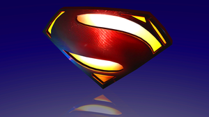 SUPERMAN EMBLEM! Man of Steel Logo 3D Render by HomelessGoomba
