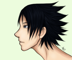 sasuke uchiha. by DISUNITE