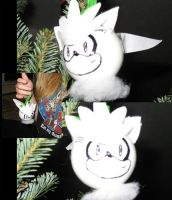 Silver the Hedgehog Ornament by Shindou-Chan