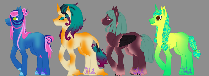 4 Pony Adopt Set 3 OPEN by LinLupin