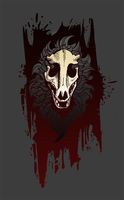 Skull Dog (T-shirt) by Tsebresos