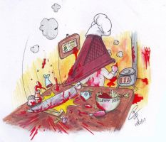 Pyramid Head the cook by ClaraKerber