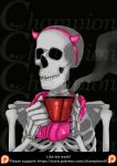 Skeleton - Pink o coffee by Championx91
