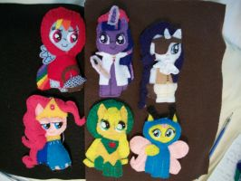 Ponygirls Just Want to Have Fun handmade ornaments by grandmoonma