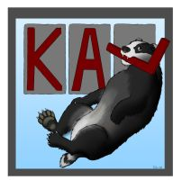 badger badge, Kal by CyberFlee