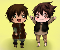 Jack and Hiccup. by KataraWolf