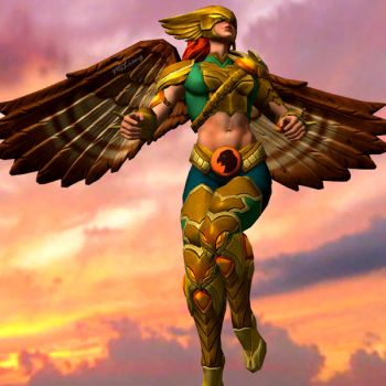 Hawkgirl Flying by MsLiang