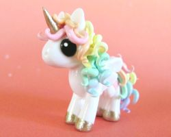 Pastel Rainbow Pony by DragonsAndBeasties