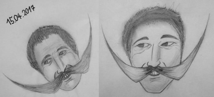 The man willing to risk his life for HIS MOUSTACHE by Vasilivros