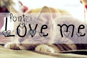 Font LOVE ME by Payasiita