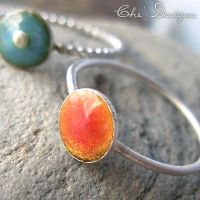 Peach,Coral,Salmon Stack Ring by che4u