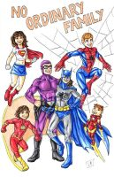 Super Family Portait by ibroussardart