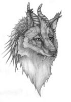Dragon-wolf by Tattered-Artemisia
