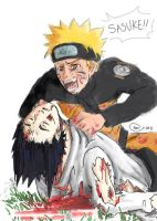 Collab: The Death of Sasuke by lauraneato