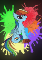 Rainbow dash with pony socks (in color) by malamol