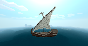 Minecraft Ship by Sillouete