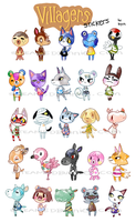 Animal Crossing Stickes by Steamed-Bun