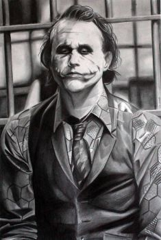 Joker in the holding cells by donchild