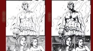 Before and After Hellboy Buffy by rox52