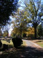 Autumn Cemetery 03 by DKD-Stock