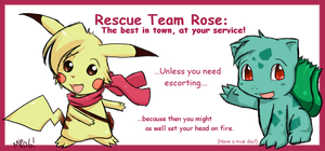 Rescue Team Rose by morganchan