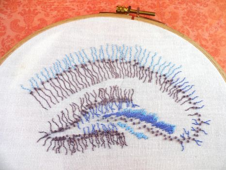 Hippocampus Embroidery by neurocrafter