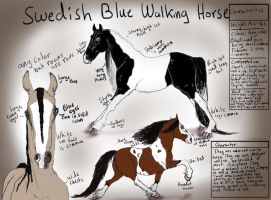 Swedish Blue Walking Horse ~ Breed REF by chihuahua4446