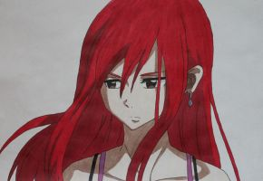 When I think of You - Erza ( Color Version !) by YuukoScarlet