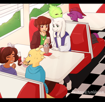 Diner Scene by Fleshmaid