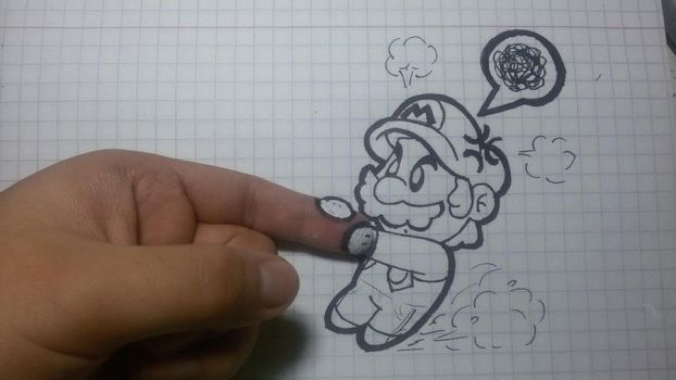 Mario wants my finger... :3 by SuperLakitu