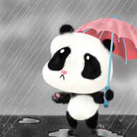 Rain Panda by UncleWomas