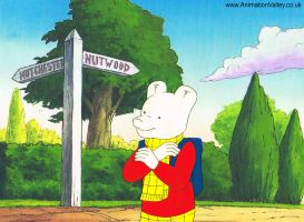 Original Hand Painted Rupert Bear Production Cel by AnimationValley