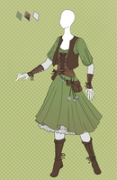 CLOSED Fashion adoptable ~ Herbalist outfit by Ayleidians