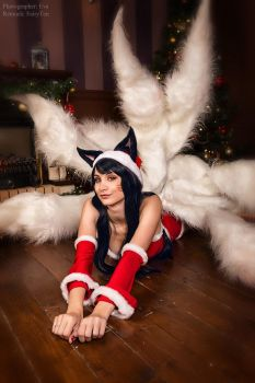 League of Legends - Christmas Ahri by Mari-Evans