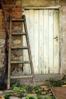 white door and a ladder by Shreever