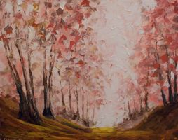 Red Forest Path by mp2015