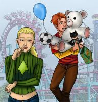 Wally and Artemis - Amusement Park by Valaquia