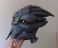 Victus mask, partially painted by Nightlyre