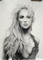 Britney Spears pencil drawing by ASaunders