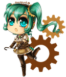 Steampunk Miku by Rixari