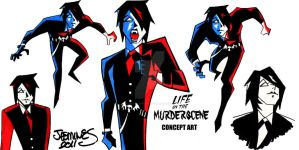 LIFE ON THE MURDERSCENE: Concept ART by XBlackFerretX
