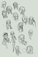 Violet Parr Sketches by lledra
