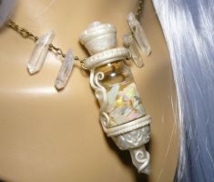 Vial of Eternal Light - handmade Necklace by Ganjamira