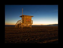 Venice Beach and Life Guard by SunsetSam