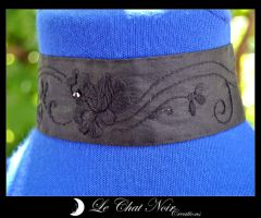 Collar Hand Embroidered_I by LeChatNoirCreations