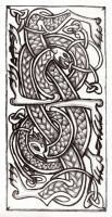 Celtic knot litho print by Naerko