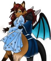 Sunette and Taithar by SunetteTheWolf